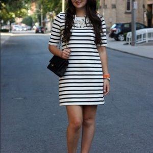 H&M Basics Black/White Stripe Dress w Pockets
